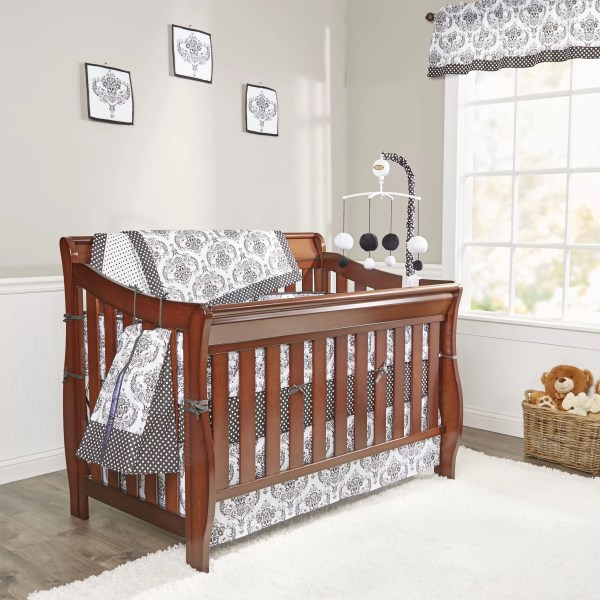 Bacati Classic Damask 10 Piece Crib Bedding Set &