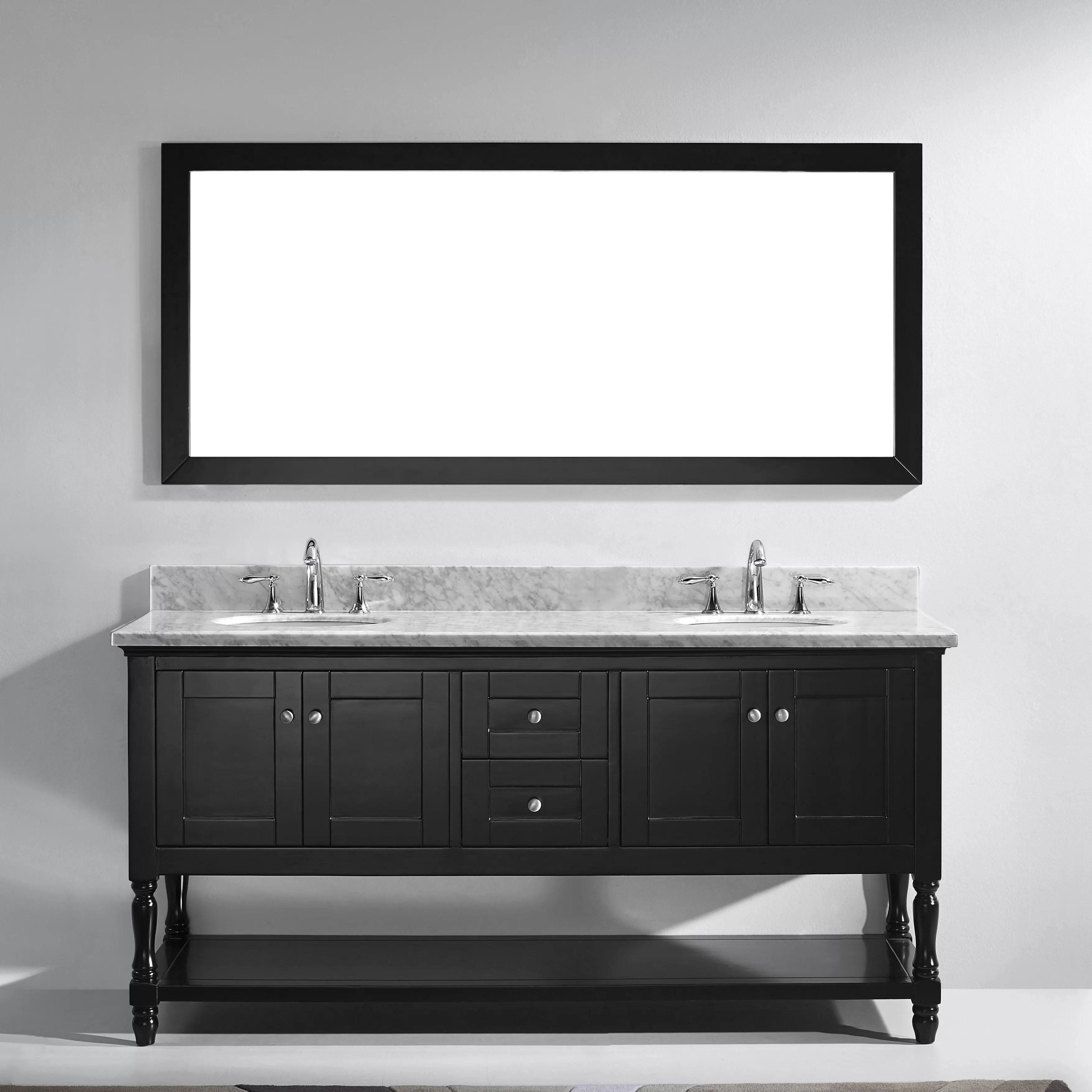 58 Bathroom Vanity Double Sink