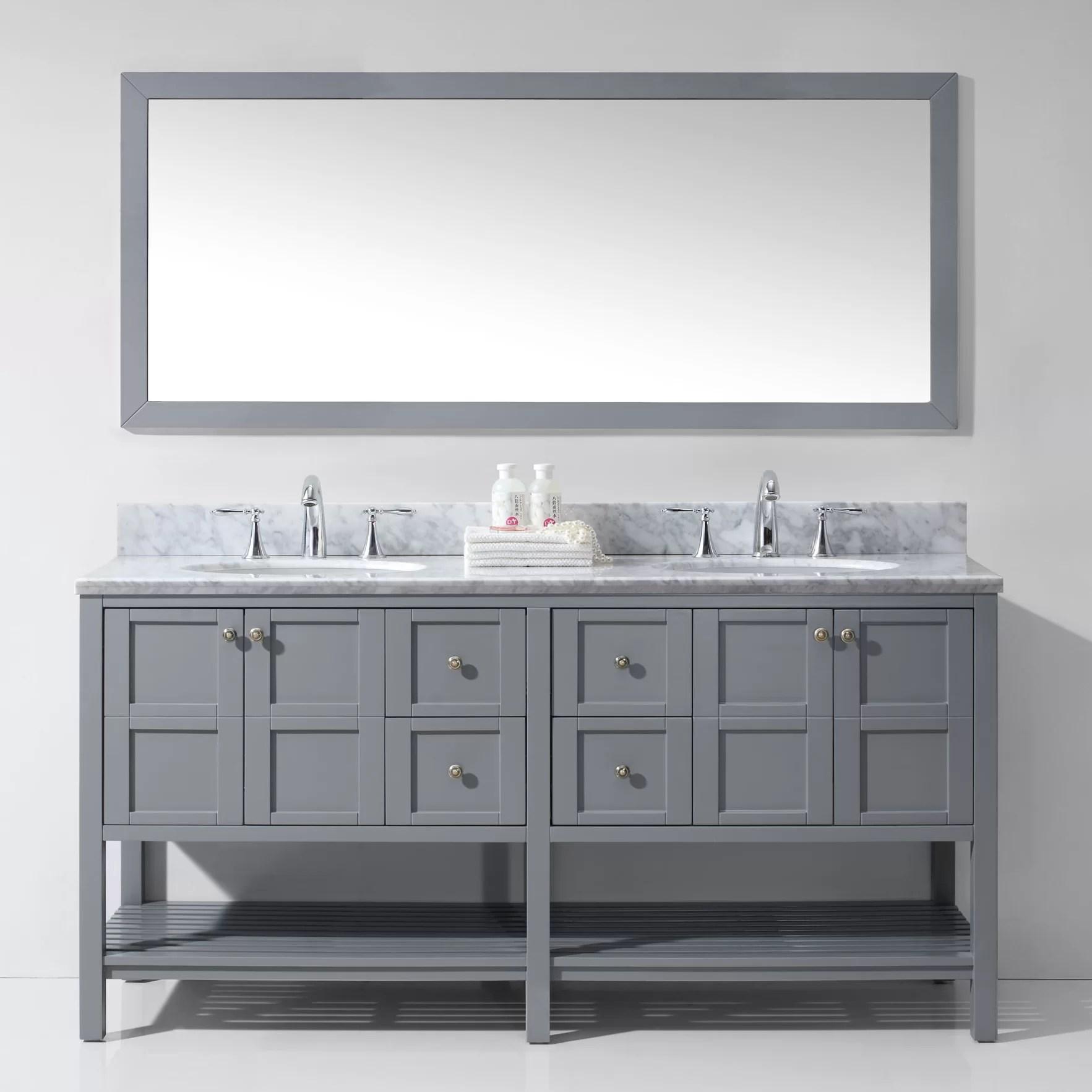 Virtu Winterfell 709 Double Bathroom Vanity Set with