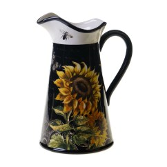 Square Kitchen Table Sets Cabinet Design App Certified International French Sunflowers Pitcher ...