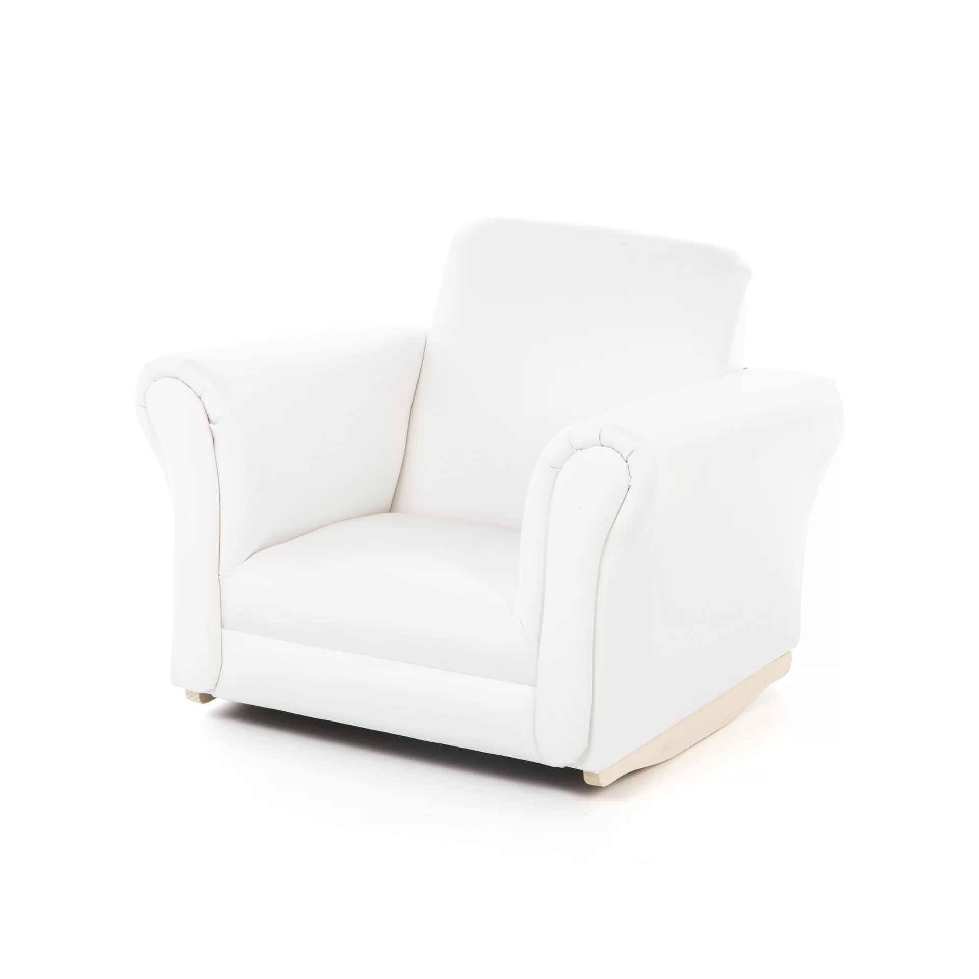white upholstered rocking chair stool size gift mark kids and reviews wayfair