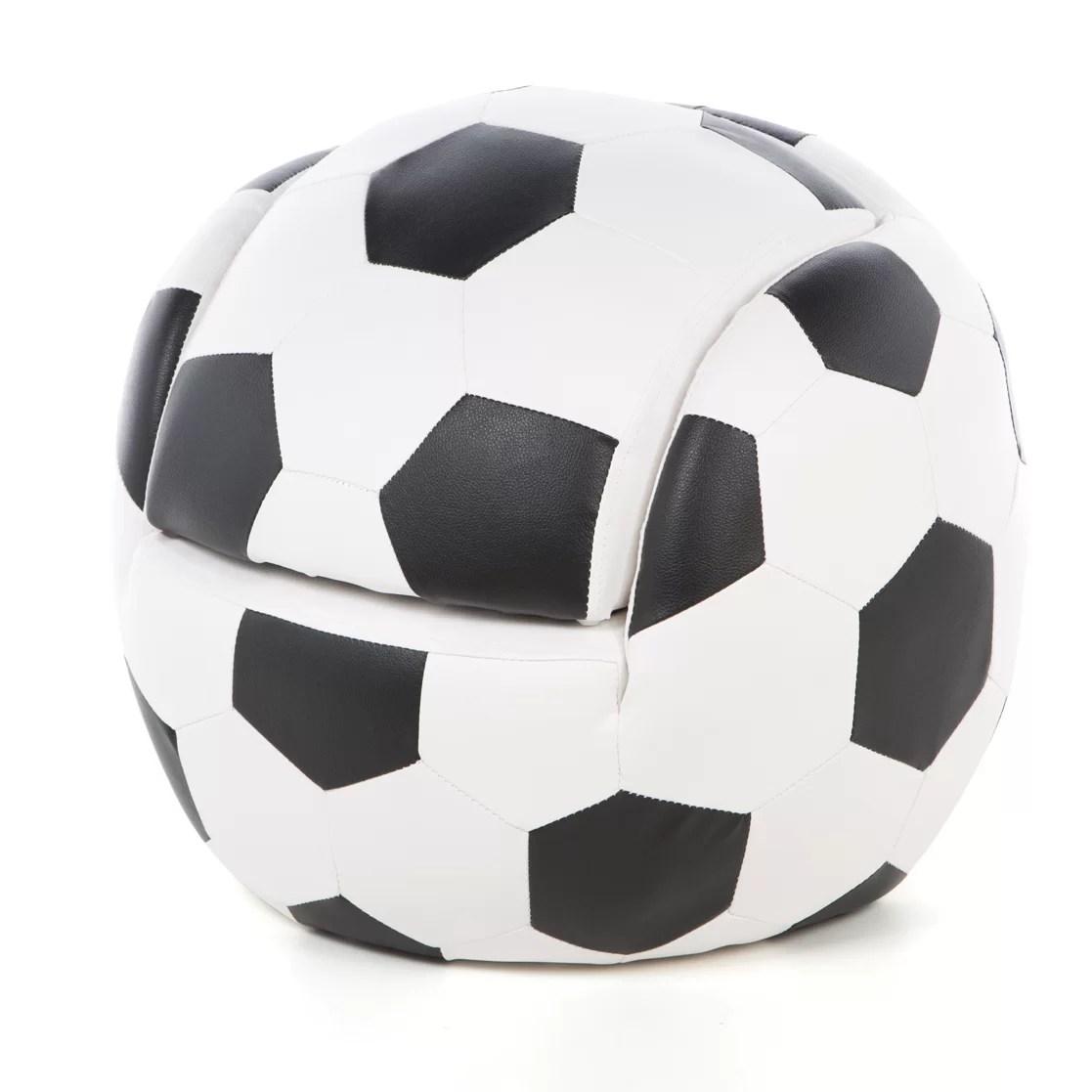 Gift Mark Soccer Ball Kids Novelty Chair and Ottoman