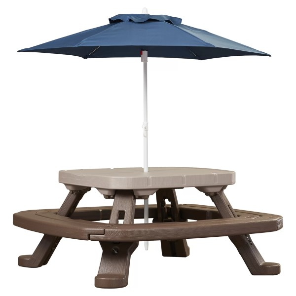 Little Tikes Endless Adventures Fold ' Store Umbrella Picnic Table &