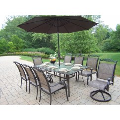 Chair King Umbrellas Accessories For Posture Oakland Living Cascade Dining Set With Umbrella And Reviews