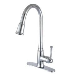 Single Kitchen Faucet Commercial Hood Parts Yosemite Home Decor Handle Deck