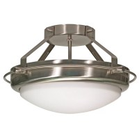 Nuvo Lighting Polaris Semi Flush Mount & Reviews | Wayfair