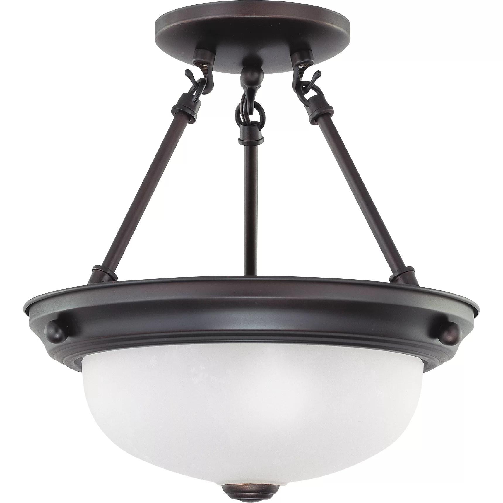 Nuvo Lighting 2 Light Semi Flush Mount & Reviews