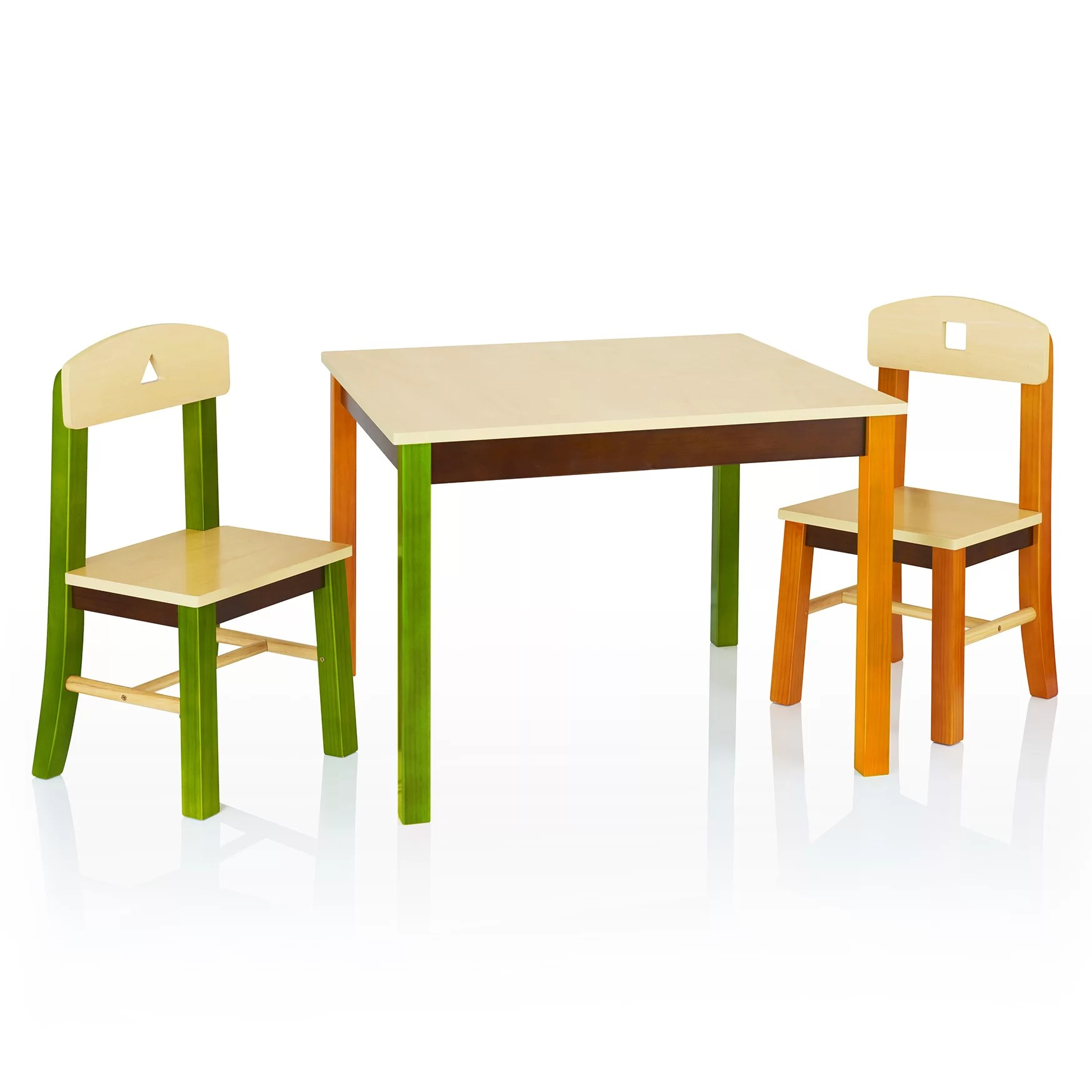 Table And Chairs Set Guidecraft See And Store Kids 3 Piece Rectangle Table And