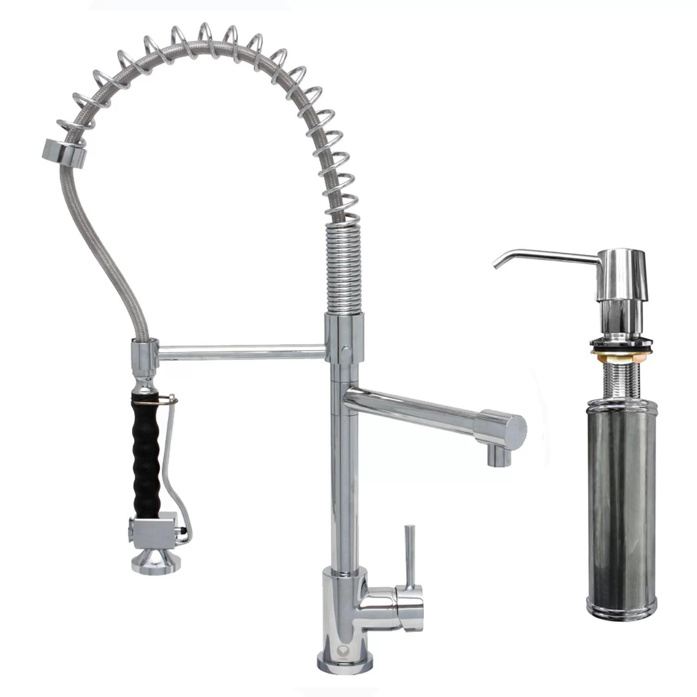 pull down kitchen faucet reviews appliance consumer vigo zurich single handle spray
