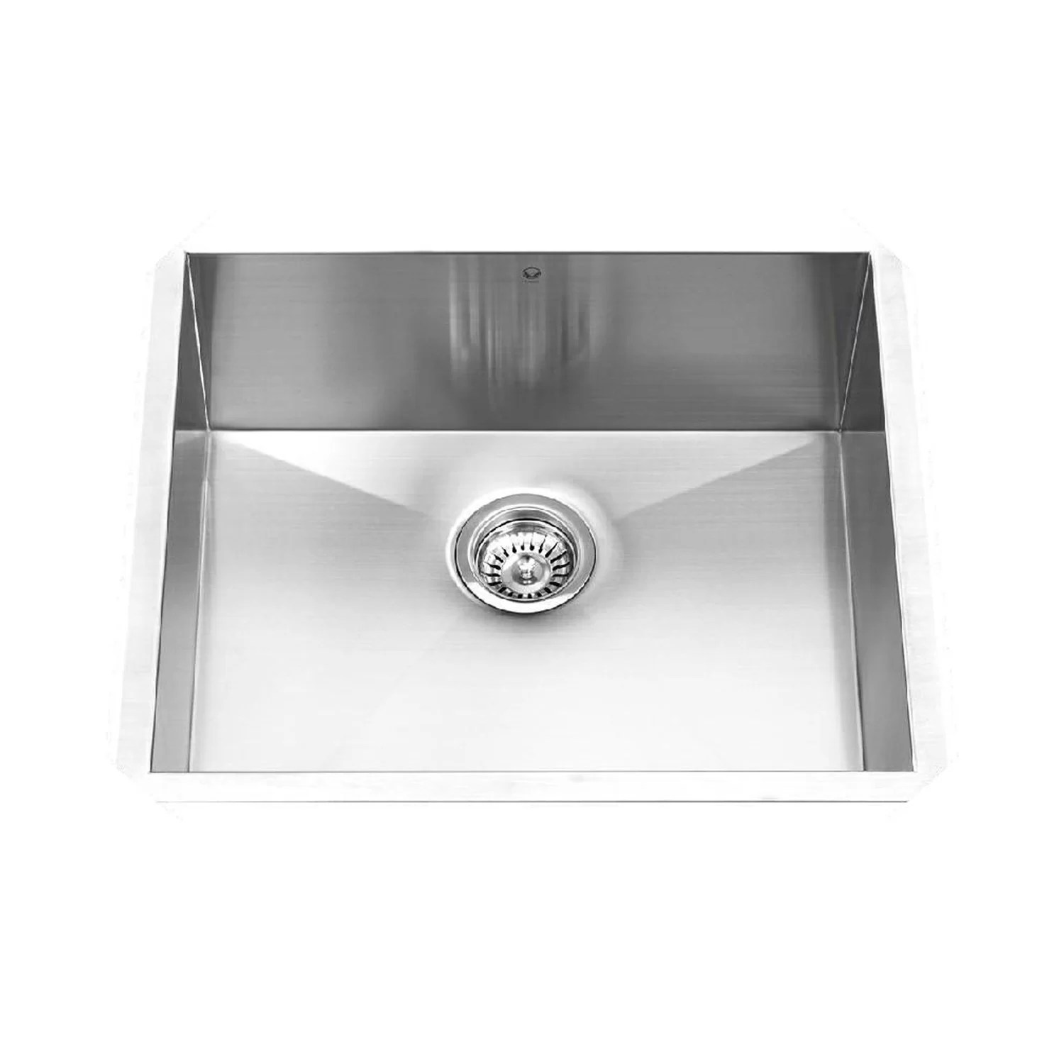 stainless steel kitchen sink reviews kohler pull down faucet vigo 23 inch undermount single bowl 16 gauge
