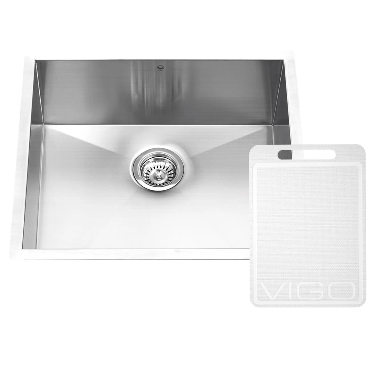 single bowl kitchen sinks best faucets consumer reports vigo 23 inch undermount 16 gauge stainless