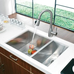 Buy Undermount Kitchen Sink Pre Assembled Cabinets Online Vigo 29 Inch 70 30 Double Bowl 16 Gauge