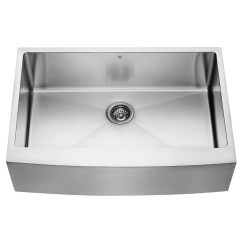Stainless Steel Farmhouse Kitchen Sink Travel Trailers With Outdoor Kitchens Vigo 33 Inch Apron Single Bowl 16 Gauge