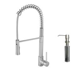Pull Down Kitchen Faucet Reviews White Laminate Cabinets Vigo Laurelton Single Handle Spray