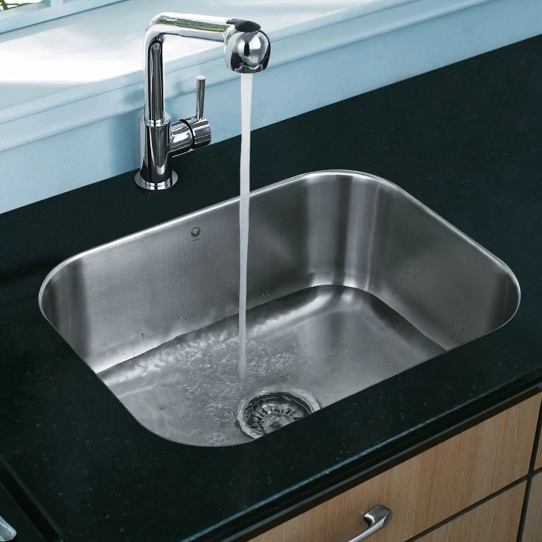 vigo kitchen sinks building your own cabinets 23 inch undermount single bowl 18 gauge stainless