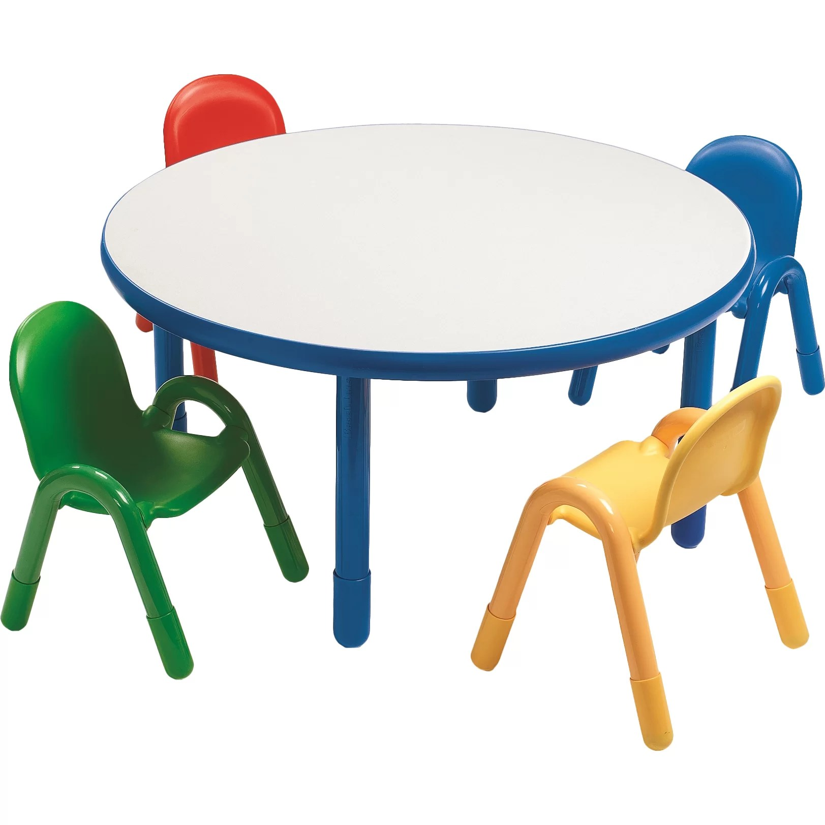 daycare tables and chairs build a bear chair recall angeles round baseline preschool table set in