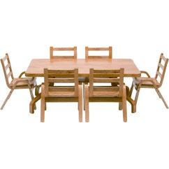 Daycare Tables And Chairs Corona Adirondack Chair Angeles Naturalwood 20 Quot Rectangle Preschool Table