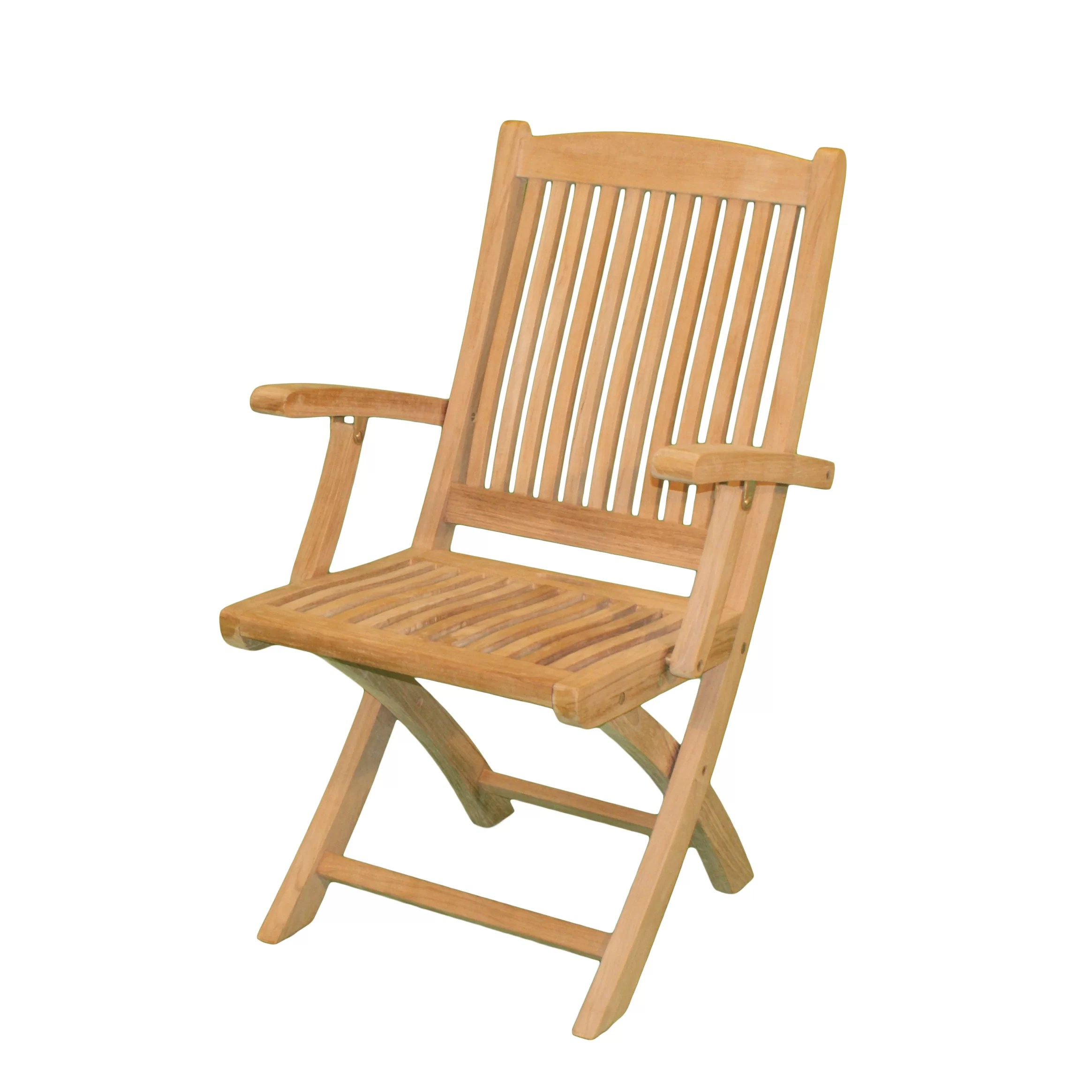 Folding Arm Chair Jewels Of Java Harbor Folding Dining Arm Chair Wayfair