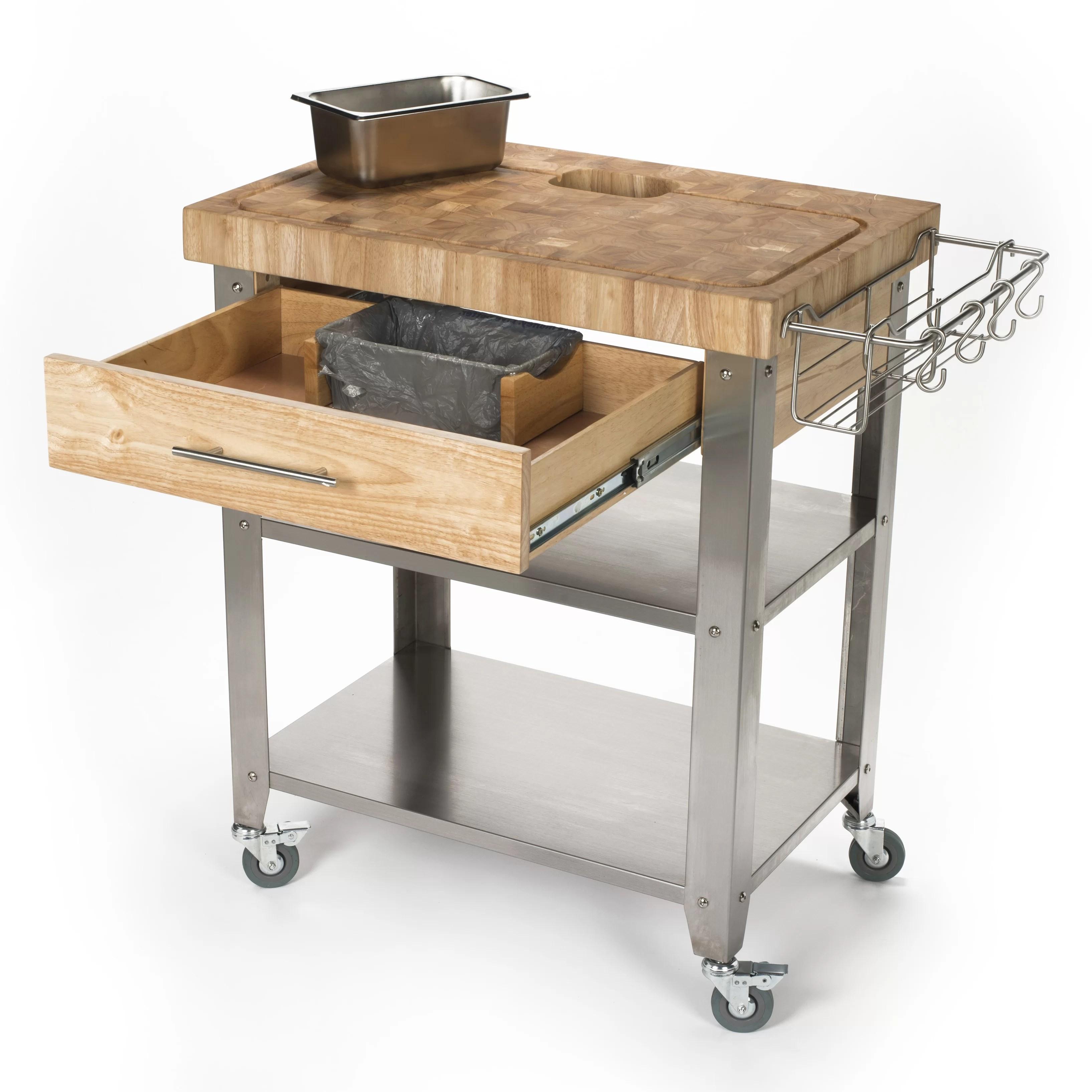 chris and kitchen cart portable island ikea pro stadium with butcher block