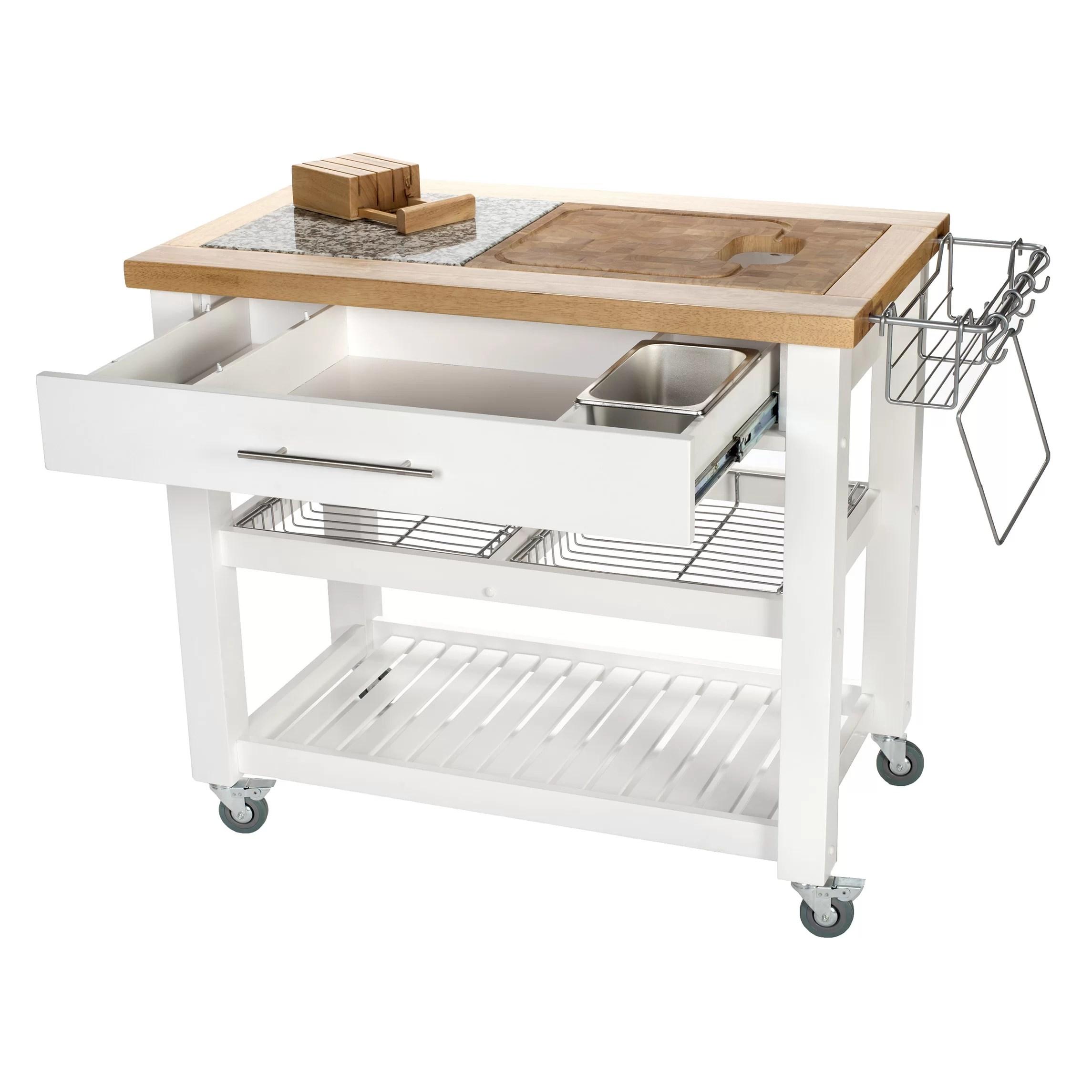 chris and kitchen cart towels target pro chef island reviews wayfair