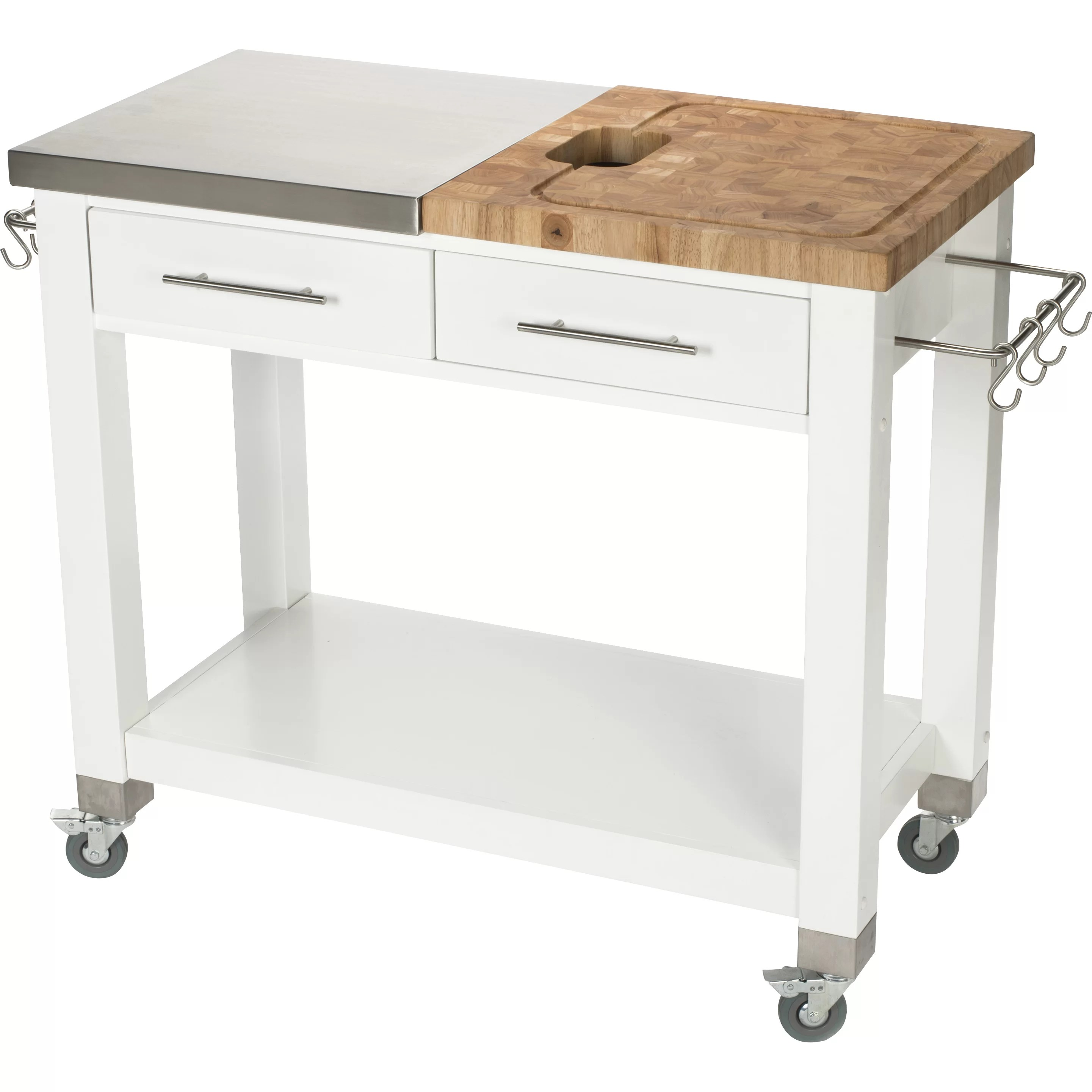 chris and kitchen cart vintage curtains pro chef island with butcher block