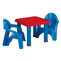 Toddler Plastic Chairs Chair Hammock Stand Diy American Toys Kids 3 Piece Table And Set