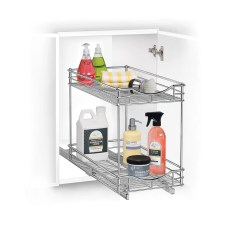 Under Cabinet Shelving Kitchen Runners Rugs Lynk Professional Roll Out Double Shelf Pull
