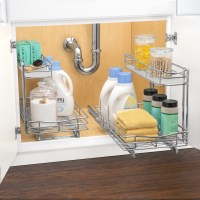 Lynk Roll Out Under Sink Cabinet Organizer - Pull Out Two ...