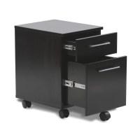 Unique Furniture 200 Collection 2-Drawer Mobile Pedestal ...