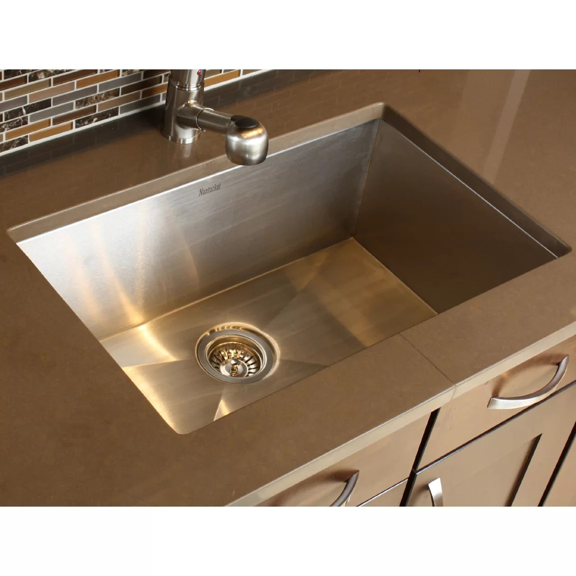 stainless steel single bowl kitchen sink aid stand mixers nantucket sinks pro series 28 quot x 18 large rectangle