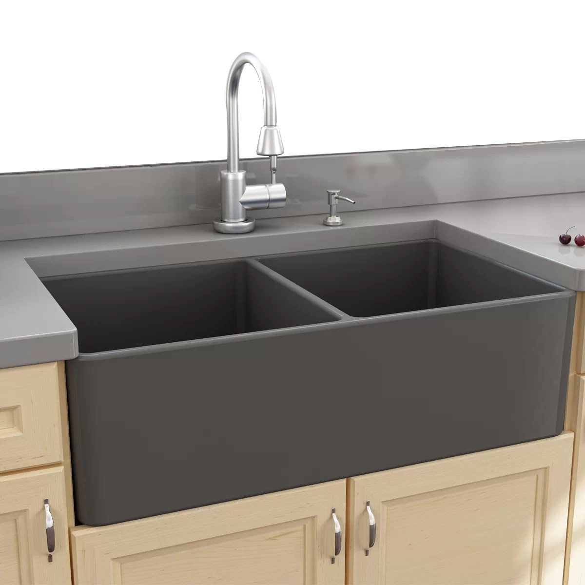double kitchen sink rohl country faucet nantucket sinks cape 33 25 quot x 18 bowl apron