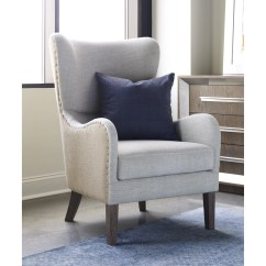 Accent Wingback Chairs Chair Seat Covers For Sale Tommy Hilfiger Two Toned