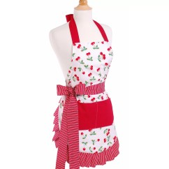 Cute Kitchen Aprons Decorative Tile Backsplash Flirty Women 39s Apron In Very Cherry And Reviews Wayfair