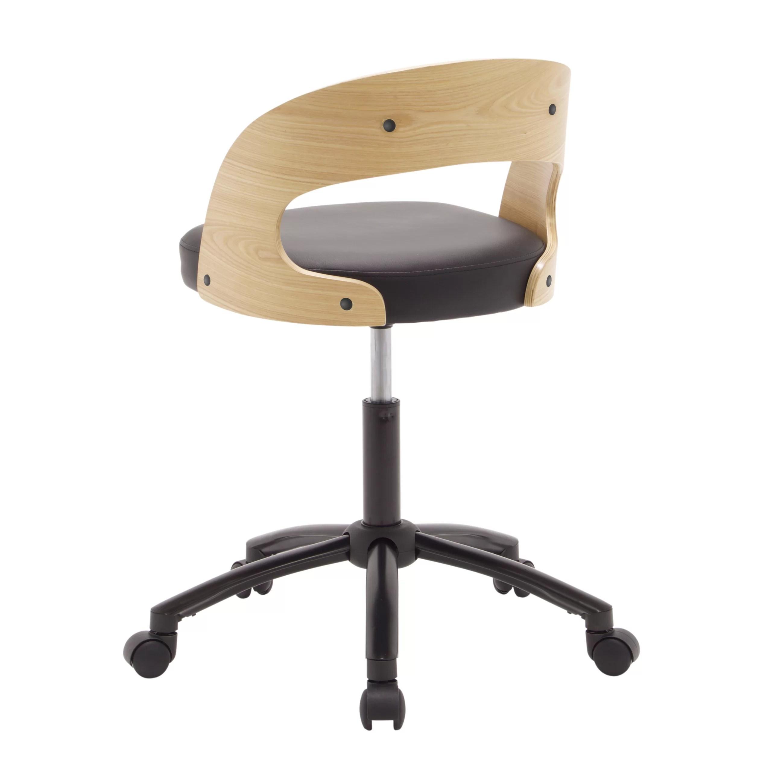 desk chair is too low black living room studio designs back wayfair