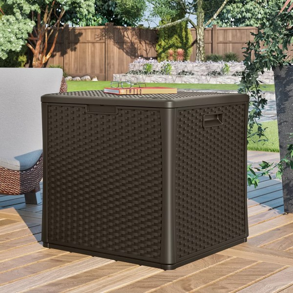 Suncast Cube 60 Gallon Deck Storage Box &