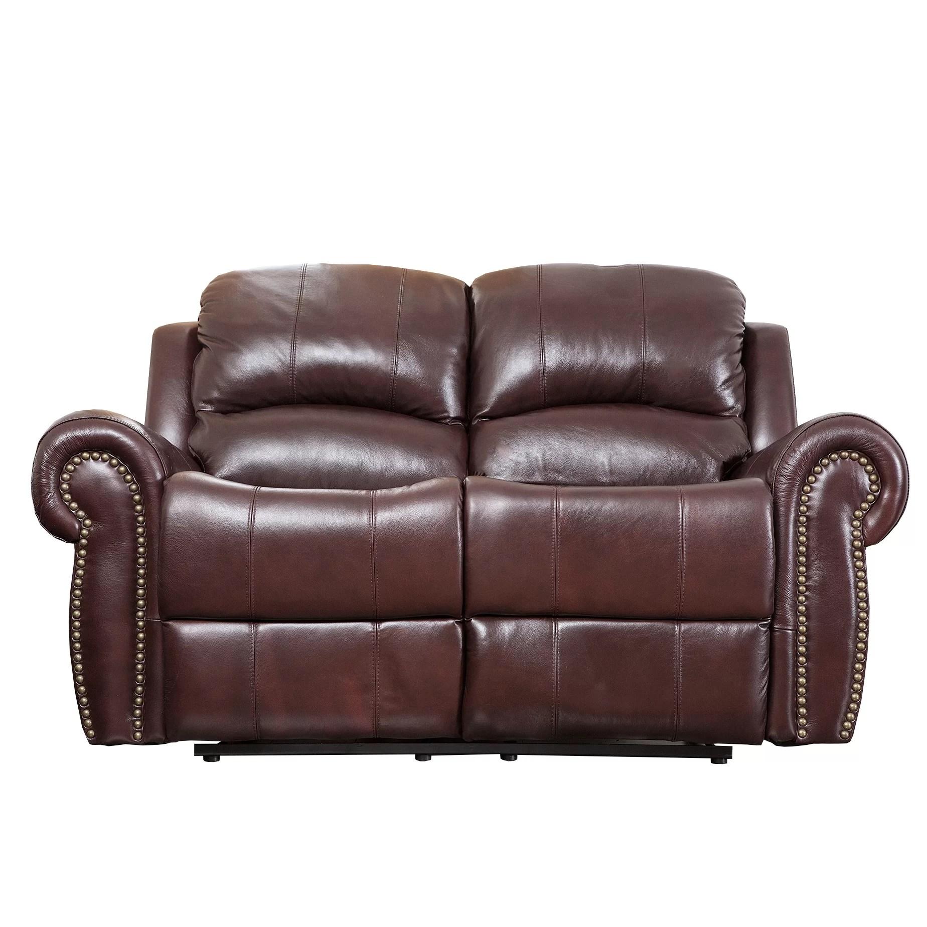 abbyson leather sofa mah jong sell living sedona reclining loveseat and reviews