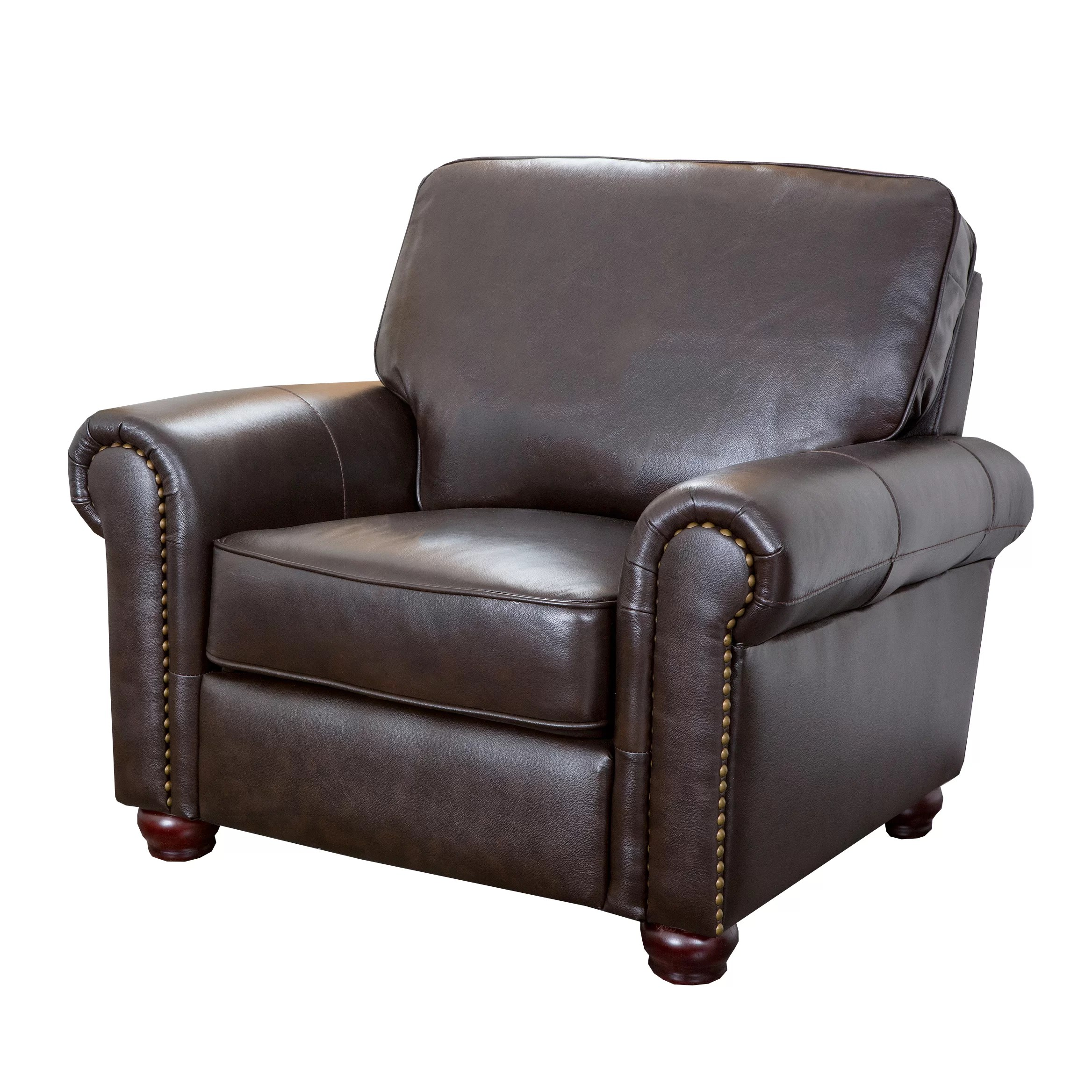 Darby Home Co Coggins Leather Club Chair  Reviews  Wayfair