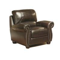 Abbyson Living Broadway Italian Leather Chair & Reviews ...