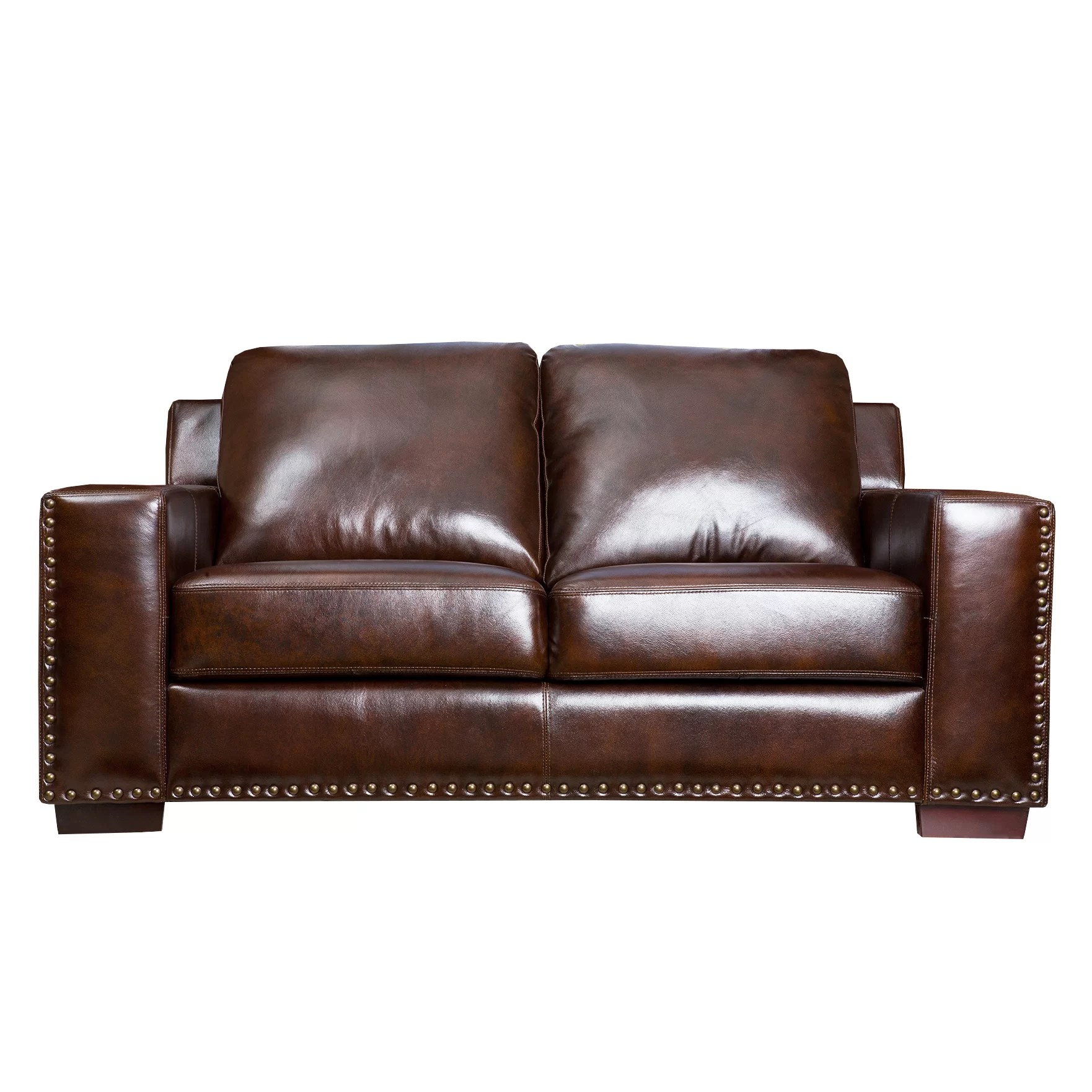 abbyson leather sofa dark blue living beverly loveseat and reviews wayfair