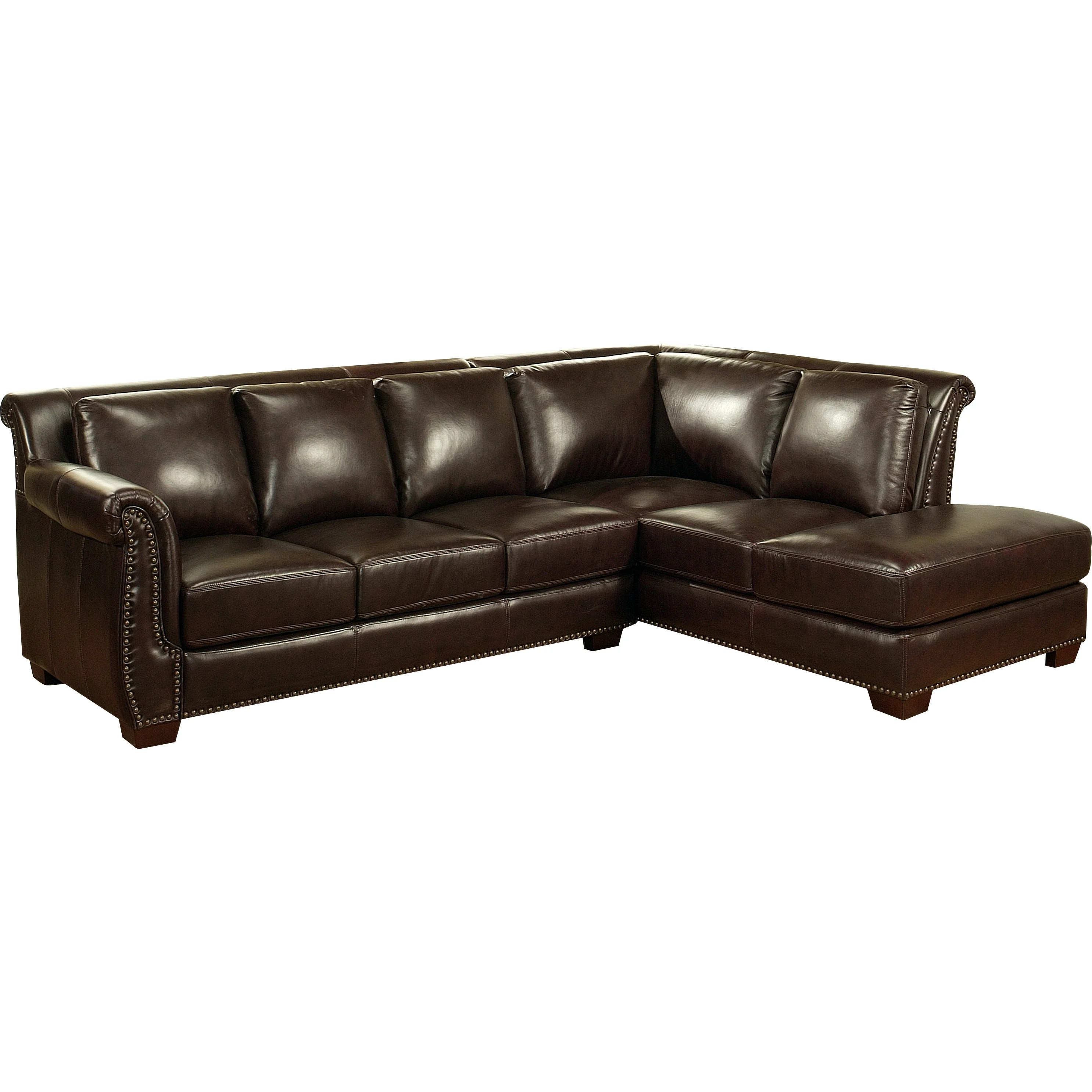 abbyson living berkshire italian leather sectional sofa large round sofas ellis and reviews