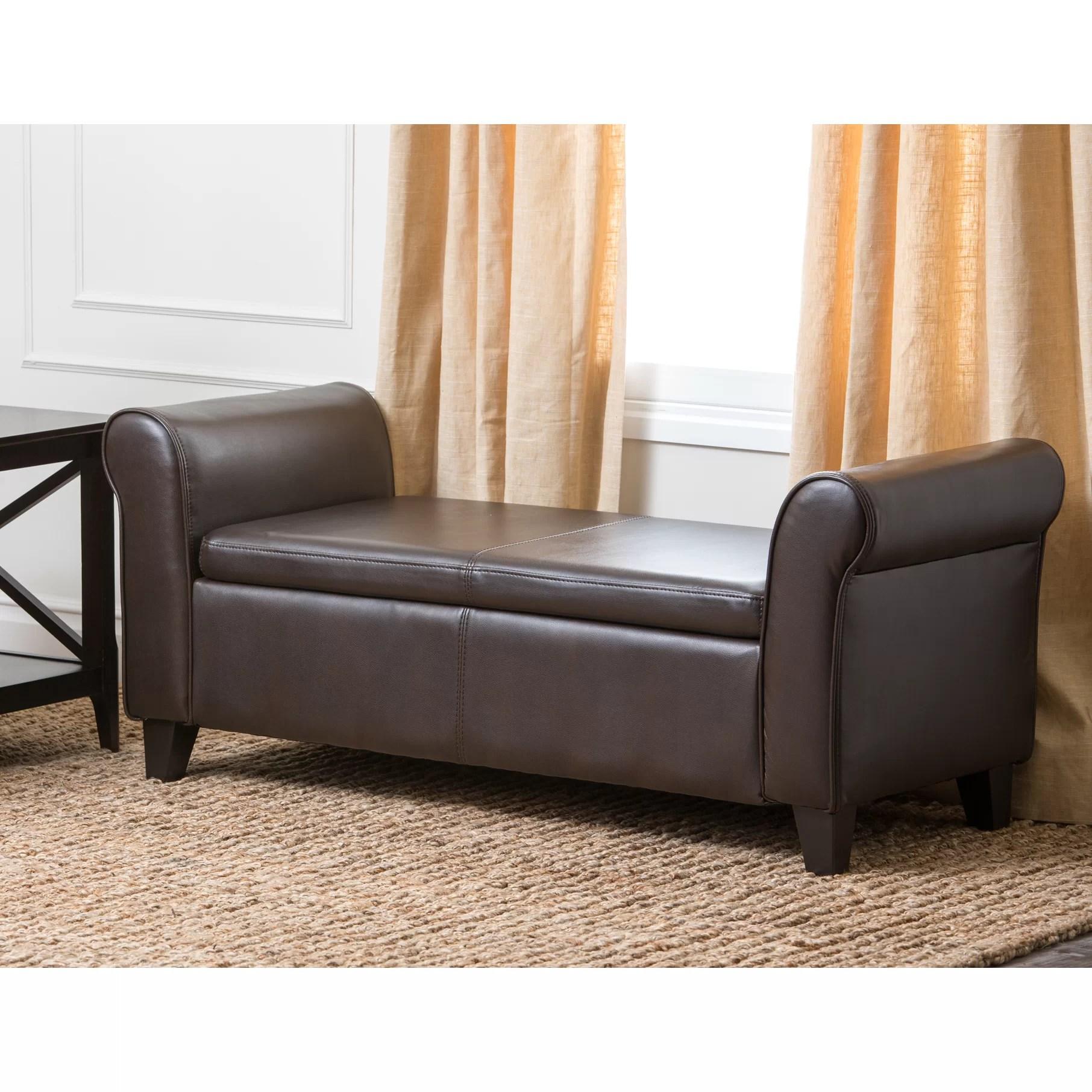 Alcott Hill Varian Upholstered Storage Bedroom Bench: Bedroom Storage Benches