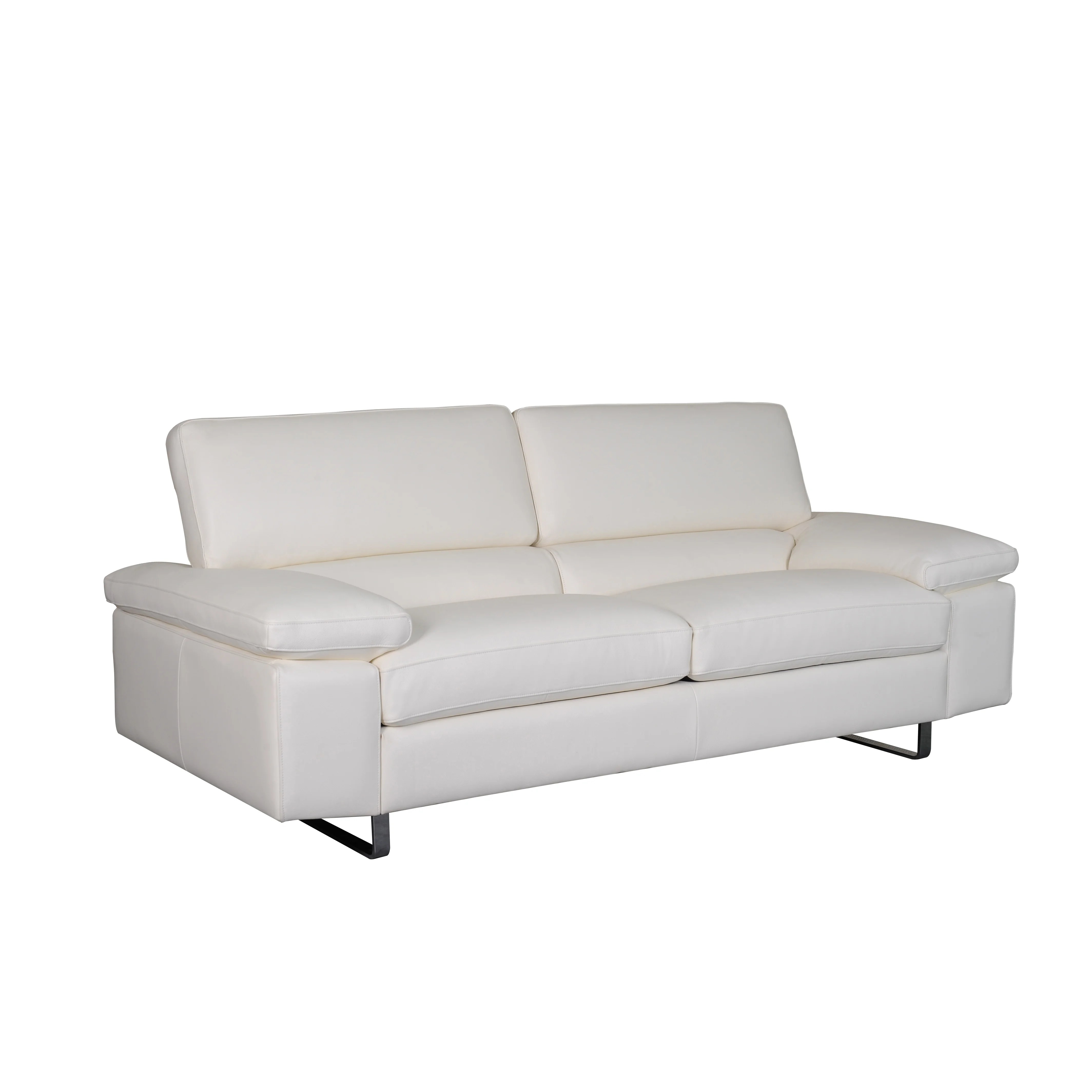 wayfair white leather sofa customized bellini modern living fiona and reviews