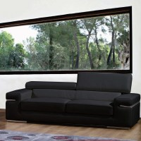 Bellini Modern Living Emilia Leather Living Room ...