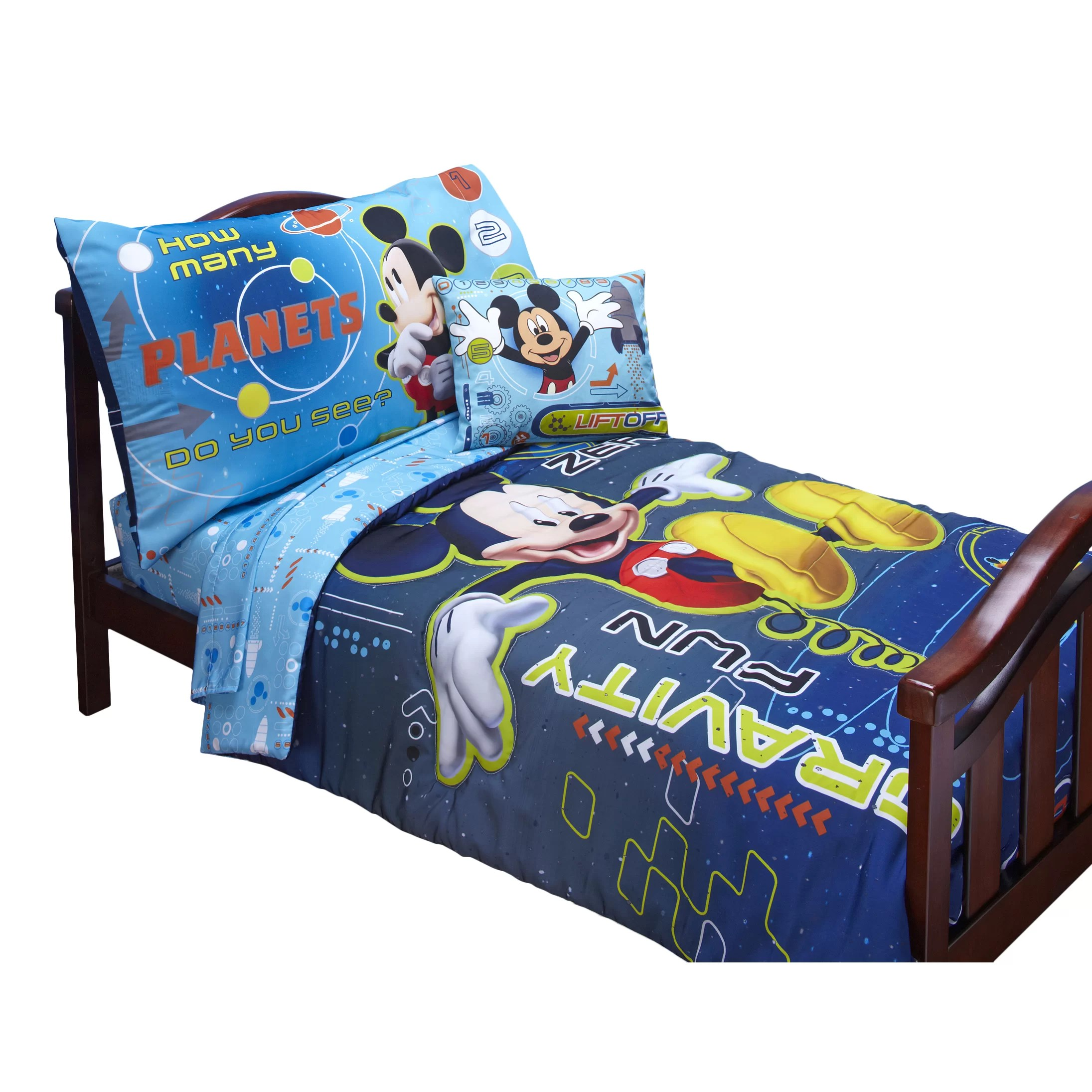 Disney Baby Bedding Mickey Mouse Space Adventures 4 Piece