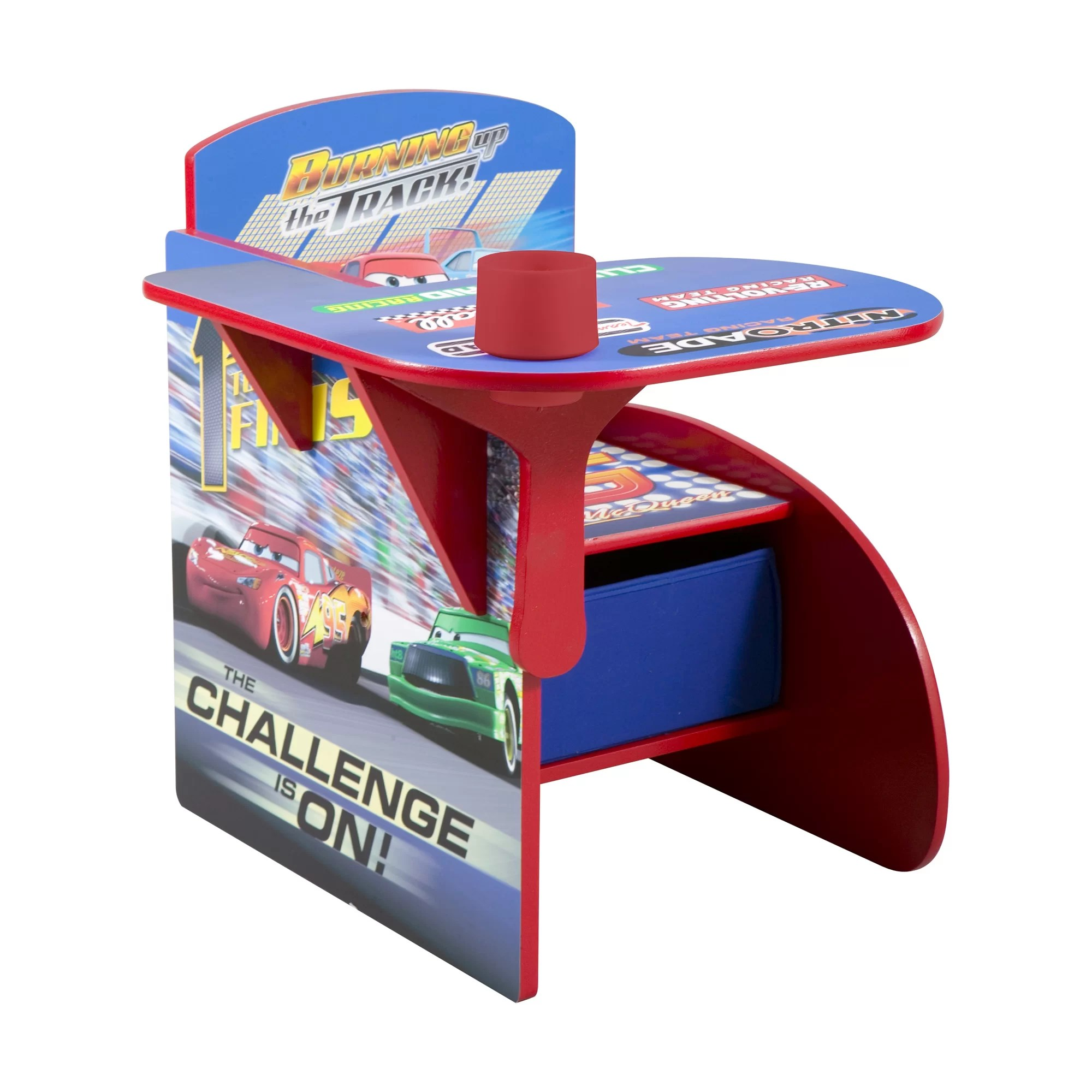video game chair with cup holder wooden arm chairs cushions delta children cars kids desk storage