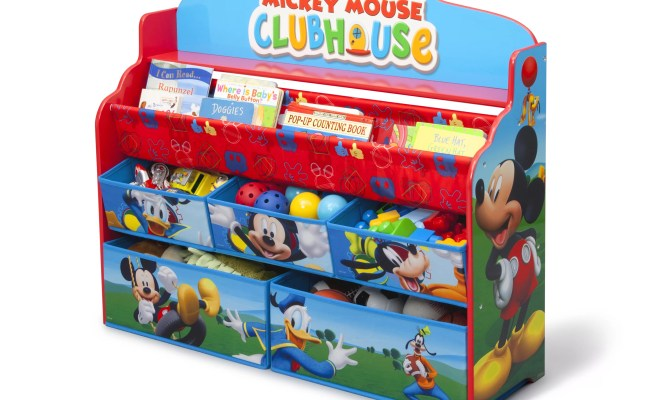 Delta Children Mickey Mouse Deluxe Book And Toy Organizer