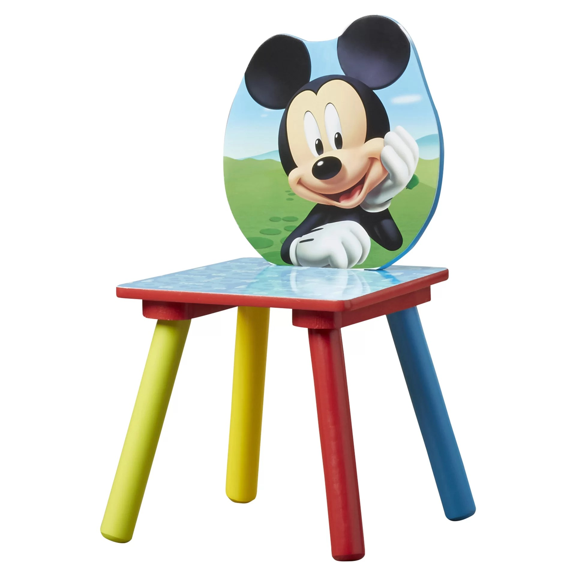 mickey mouse chairs and table black leather desk chair delta children kids 3 piece