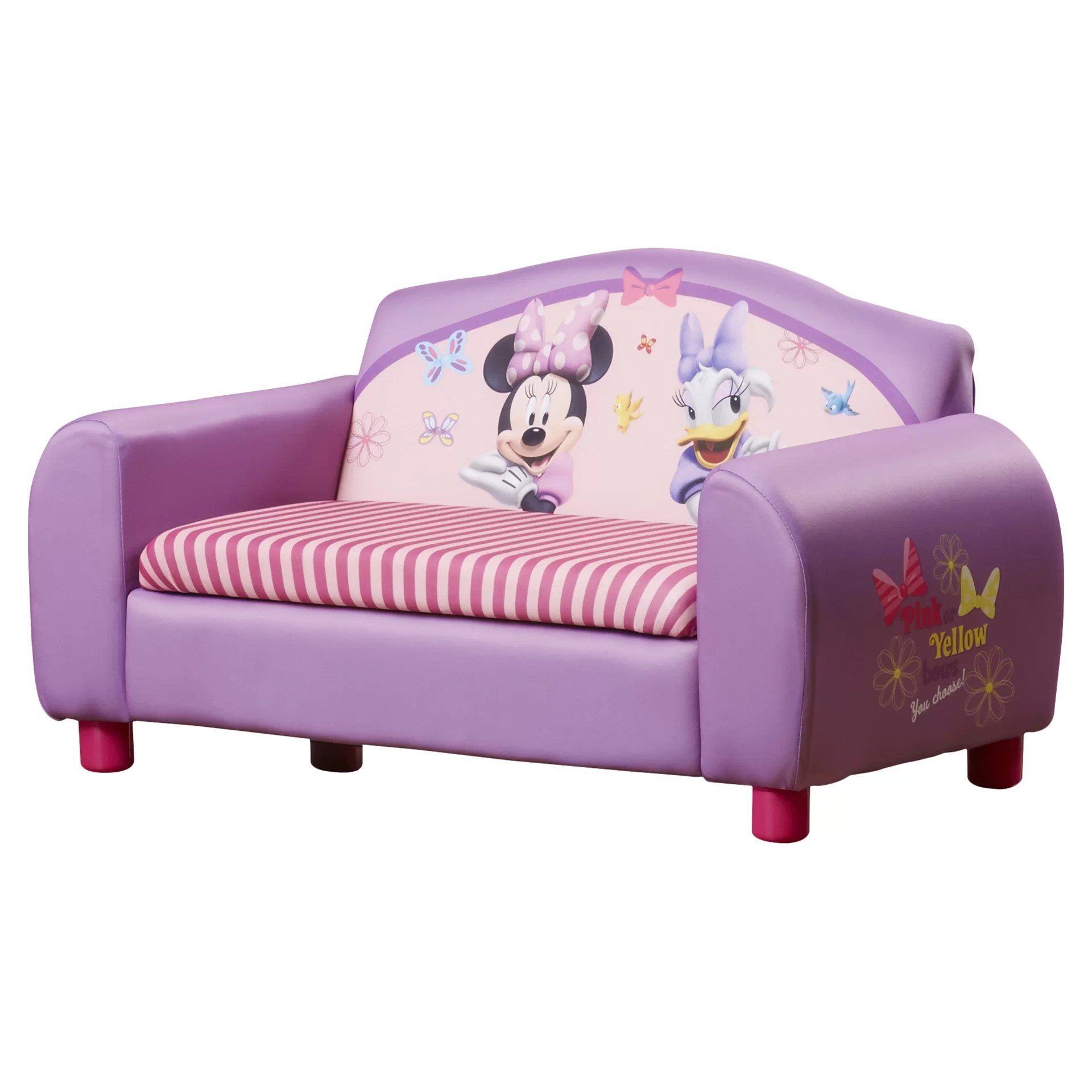 minni mouse chair office nilkamal delta children disney minnie kids sofa with storage