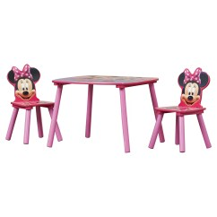 Minnie Table And Chairs Cheap Folding Chaise Lounge Outdoor Delta Children Mouse Kids 3 Piece Chair