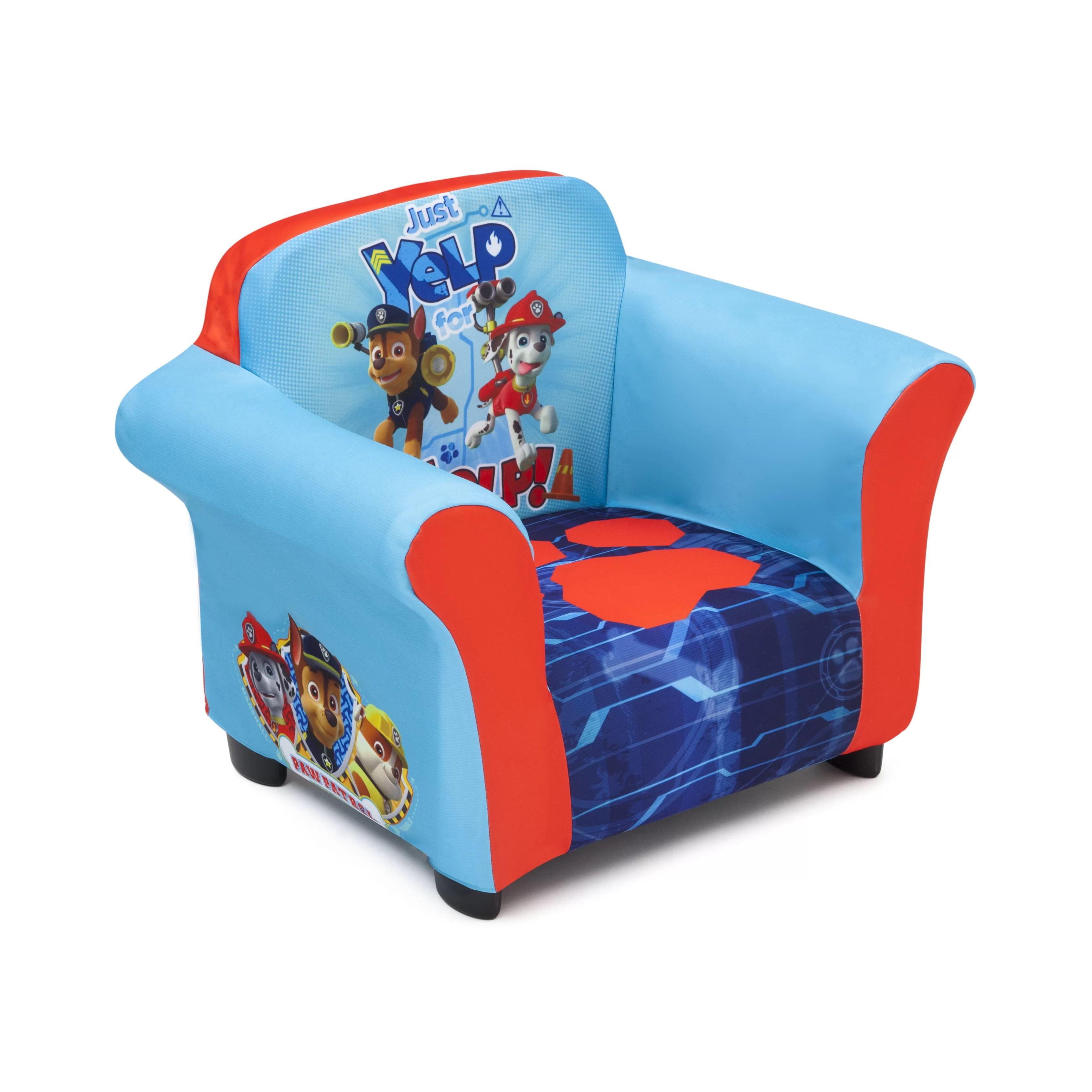 delta children chair with long seat nick jr paw patrol kids club